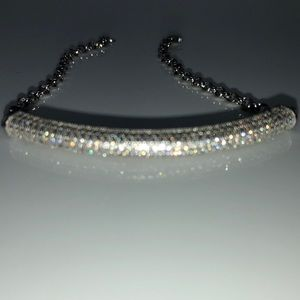 """Jewelry - 🆕S925 PP AAA 6 Row Pave 7.5"""" Bracelet 3mm Chain"""